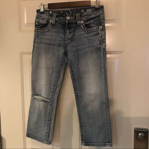 Miss Me   Signature Cropped Stretch Jeans SZ 27